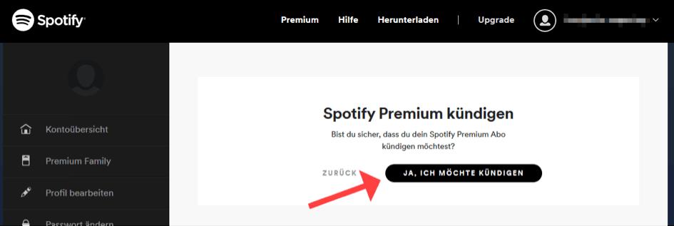Spotify kündigen 4