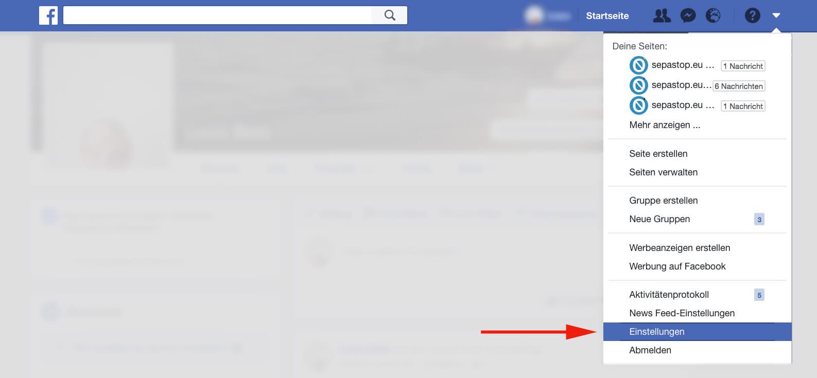 Facebook - settings