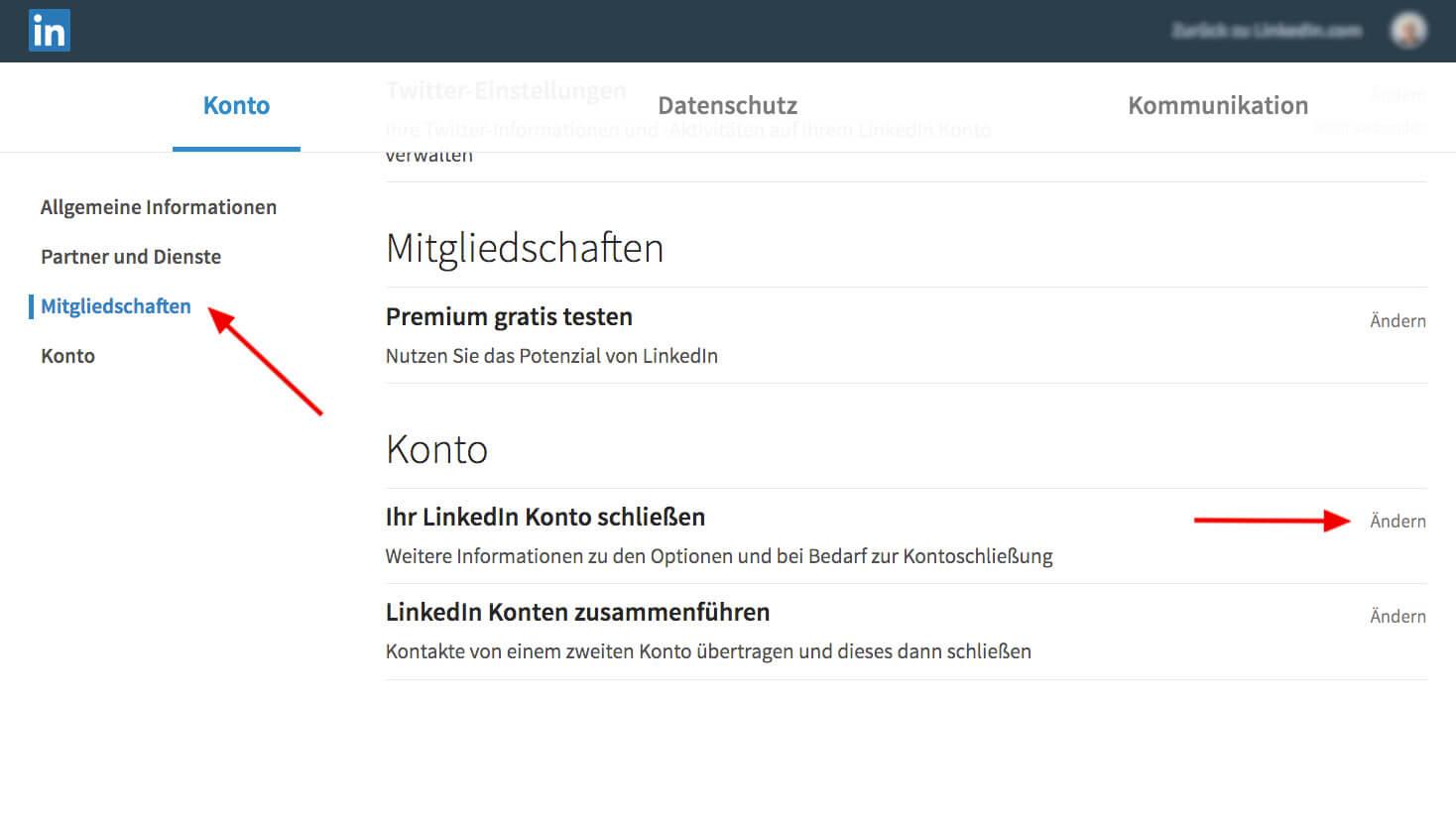 LinkedIn - step 2