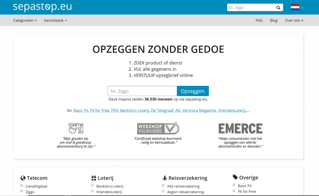 Startpagina sepastop.eu
